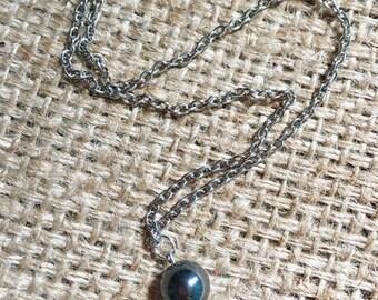 Hematite Necklace, Stone Necklace, Gemstone Necklace, Hematite Jewelry, Black Stone Jewelry, Gemstone Jewelry, Stone Bead Necklace