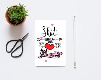 Funny Valentine Card, Valentine for Her, Valentine Card for Him,