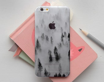 Forest in Fog iPhone 7 Plus Case Clear iPhone 7 Plus Case iPhone 6 iPhone 6 plus Case 7 iPhone Clear iPhone Case iPhone 8 Case for S8 PP1322