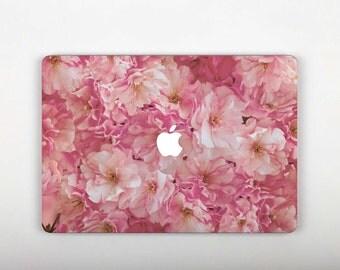 Pink Stickers MacBook 13 inch MacBook Sleeve Flowers Laptop Decals MacBook Air 11 Case Floral Keyboard Stickers Pro 15 2016 Laptop SG035