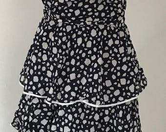 Vintage White spotted ra ra dress