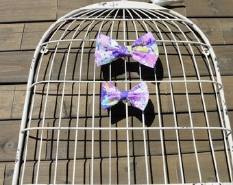 Shades of Violet Bow Clip