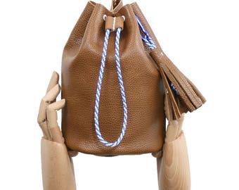 Bucket bag / Boho chic bag / brown leather bucket bag / boho chic purse/ brown purse / brown leather bag / shoulder bag minimal bag / boho