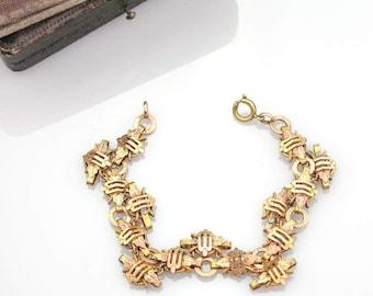 German Gold Antique Victorian Bracelet | 8k Victorian Gold Bracelet | Aesthetic Era Antique Bracelet