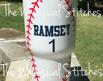 Baseball Mom - Baseball Tumbler - Baseball - Tumbler - Baseball Cup - Personalized Baseball Cup - Personalized - Monogrammed Cup