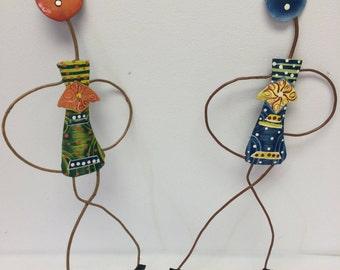 Spaghetti Person Wall Hanging  HAC6/Art Work/Wall Hanging/Home Decor/Custom Made/Gift Idea