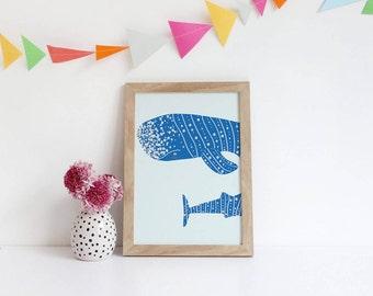 Pirate Nursery - Animal Wall Art - Nursery Print - Pirate Art - Nursery Poster - Baby Shower Gift - Whale Print - Pirate Wall Art - Nautical