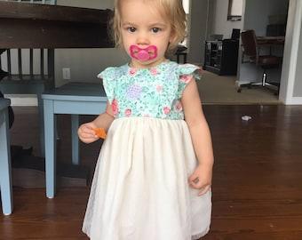 Little Girls Fancy Tule Skirt Dress