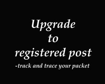 Upgrade to registered post-Track and trace your post-Safe and secure option for local or international envelopes, packets, parcels or boxes