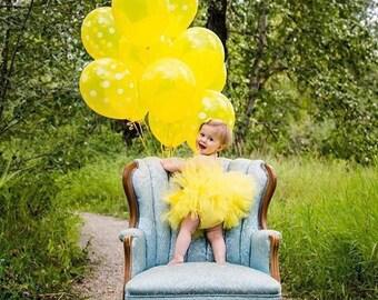 Yellow Tutu, Newborn Tutu, Baby Tutu, Infant Tutu, Toddler Tutu, Birthday Tutu, Photo Prop, Minion Tutu, READY TO SHIP