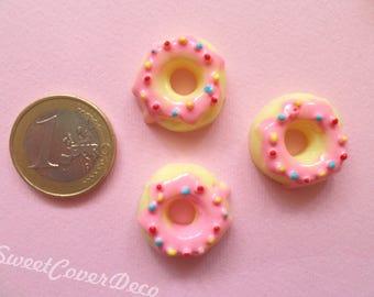 22 mm Kit 3 Cabochon Pink Donuts