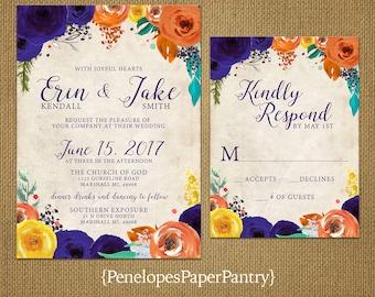 Irish wedding invitationgold shamrockemerald green and for Simple elegant wedding invitations ireland