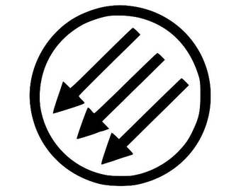 Anti-Fascist Symbol Canvas Tote Bag