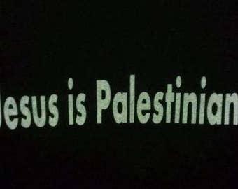 Kid's T-Shirt Jesus is Palestinian Screen Print in Kids S-L