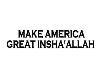 Kids Make America Great InSha'Allah Screen Print T-shirt in Kids S-L