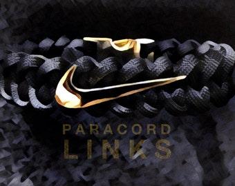 NIKE Swoosh Bracelet with a Metal (Gold, Chrome or Gun Metal Finish) Fastener