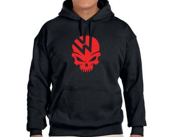 VW SKULL Volkswagen Auto Graphic Hoodie  100% Screen Printed  ***Free Shipping***