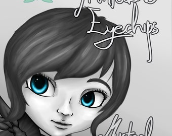 Printable eyechips Pullip 12mm doll eyes