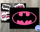 Batgirl // DC Comics // Comic Book // Superhero // Baby Shower Invitation