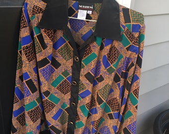 Vintage Patterned Blouse