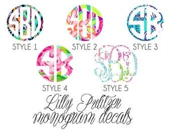 Lilly Pulitzer Monogram Vinyl Decal
