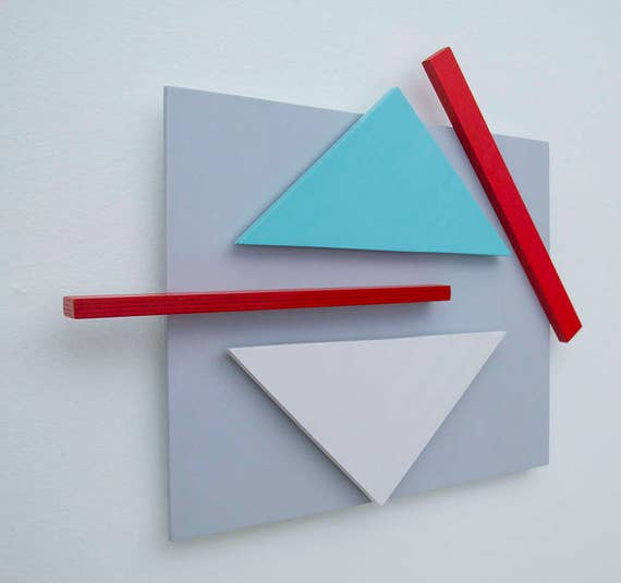 Original Abstract 3-Dimensional Abstract Wall Sculpture | Abstract Wall Art | Minimalist Art | Geometric Abstraction