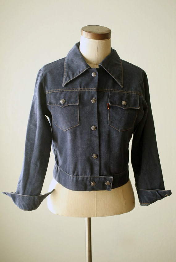 1970s Vintage Levis Denim Trucker Jacket Womens Medium / Levis