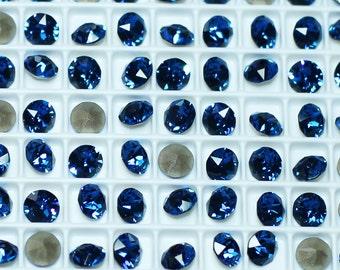 Zirius Chaton 1088 Swarovski Rhinestones SS29 Foiled Capri Blue