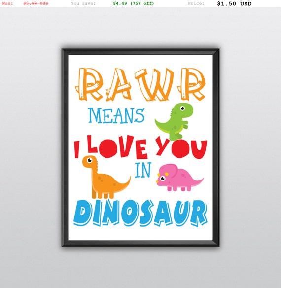 75% off Dinosaur Printable Digital Printable Playroom Printable Boy Print Dinosaur Boy's Room Decor Typography Home Decor Printable (T102)