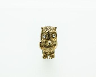 A Cute 9ct Gold Owl Charm   SKU606
