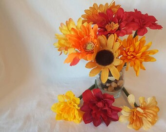 10 Flower Pens. Floral Bouquet. Floral Pens. Fall. Mothers Day. Autumn. Office Supplies. School Supplies.