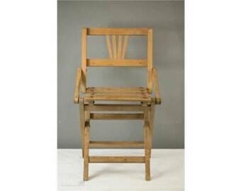A 1930's Art Deco Style Beech Child's Folding Chair