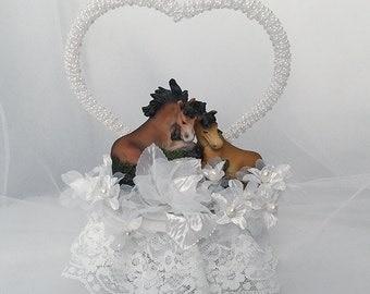 Outdoor Wedding decorations- Wedding Cake Topper- Horse Wedding Cake Topper- Horse Wedding Decorations- Western Theme Wedding Cake Toppers