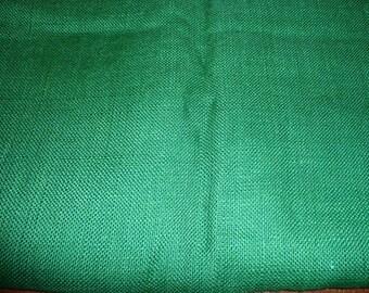 2 Yards 24 Inch Green 40 Inch Wide Burlap Fabric