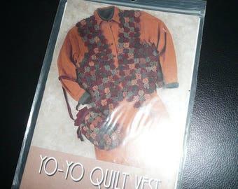 Indygo Junction Designs Yo-Yo- Quilt Vest And Drawstring Bag Pattern