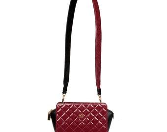 Leather Crossbody Bag, Marsala Leather Shoulder Bag, Women's Leather Cross body Bag, Leather bag KF-811