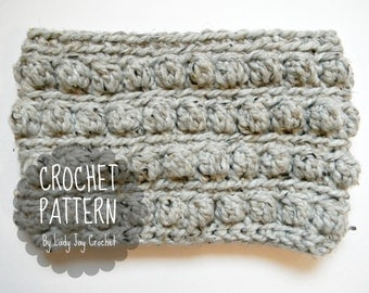 PATTERN: Rory Cowl | Chunky bobble crochet scarf | Easy quick scarf diy tutorial | Modern Textured crochet cowl pattern | Infinity scarf diy