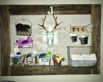 Barn Wood Peg Board