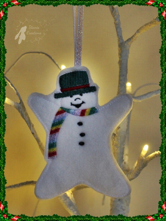 Ith in the hoop snowman wishes decorations machine for Decoration 4x4
