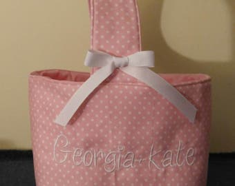 Monogrammed Easter Basket, Easter Basket, Personalized Easter Basket, Monogrammed Basket, Easter Egg Hunt Basket