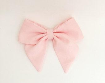 Ballerina pink sailor bow