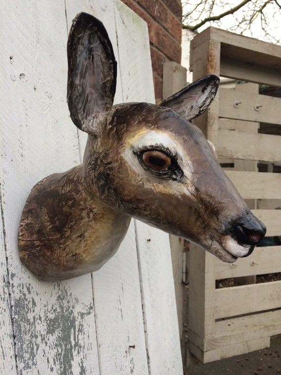 Red Deer Faux Taxidermy Paper Mache Animal Head