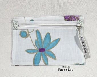 Pocket transparent blue flower
