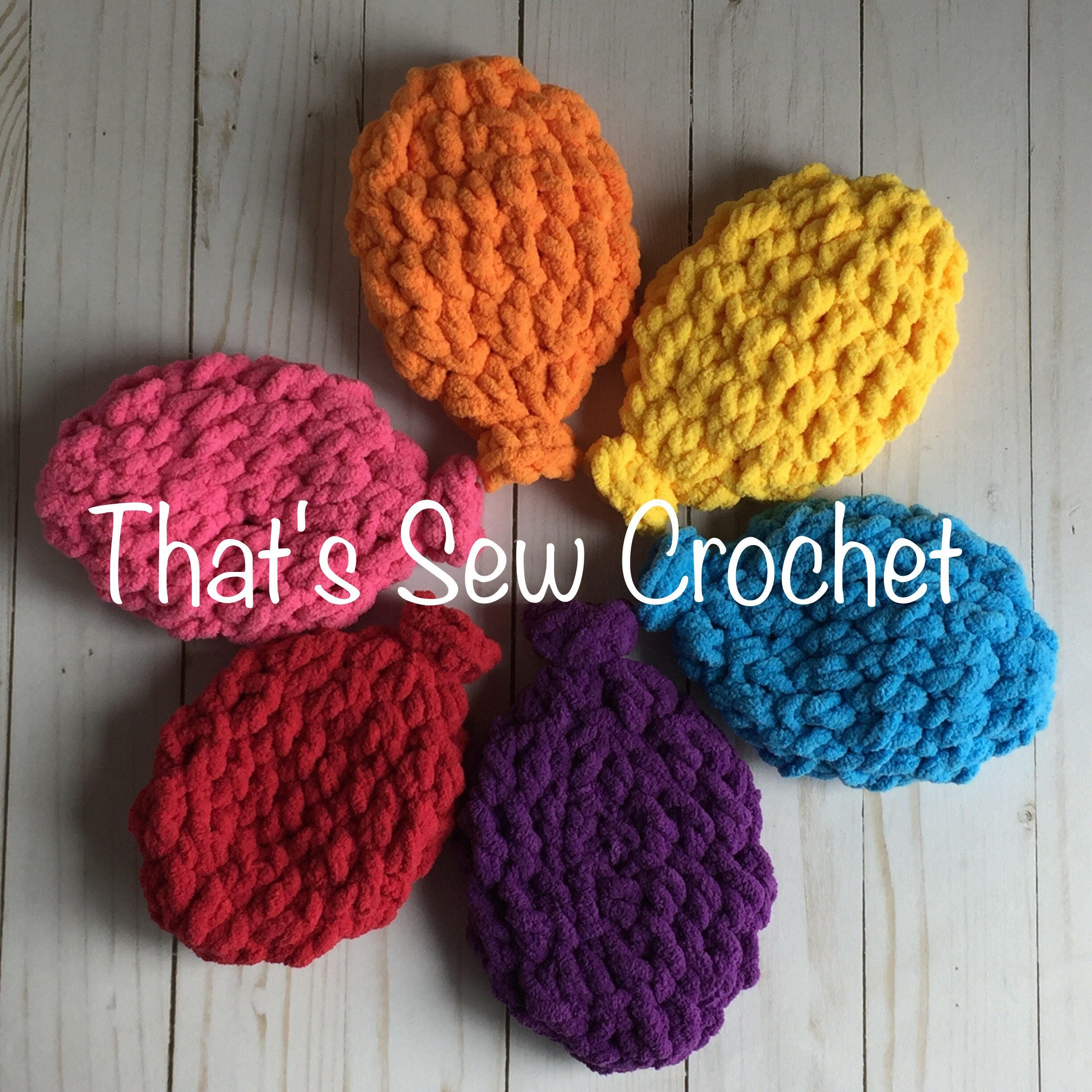 Crochet Pattern Water Balloon : Crochet Water Balloons Set of 6