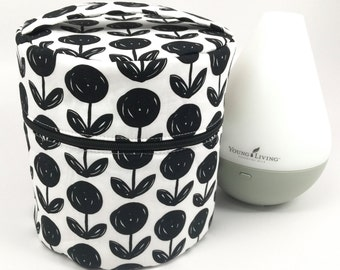 Young Living Essential Oil Diffuser Bag for travel and storage with interior pockets for oils-Fits both the Home and Dewdrop Diffuser