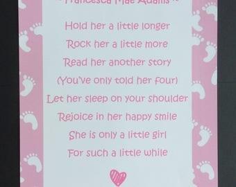 Personalised Little Girl/Little Boy Poem