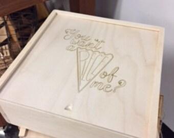 Wooden pie box