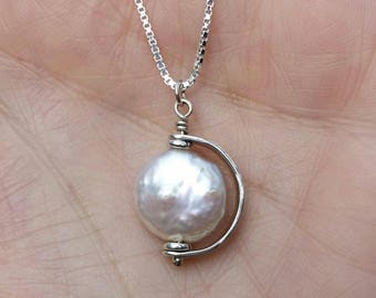Pearl & sterling necklace