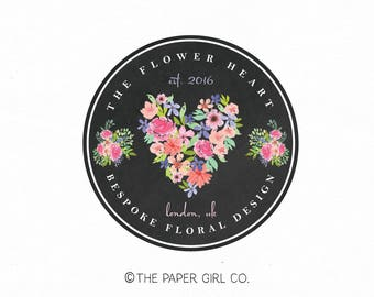 florist logo floral logo flower logo wedding logo event planner logo beauty logo watercolor logo make up logo photography logo beauty logo