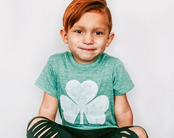 Kids St. Patrick's Day Shirt - Shamrock Shirt - St. Patty's Day Shirt - Boys St. Patricks Day Outfit - Hipster Toddler Clothes - Shamrock